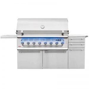 American Muscle Grill 54-Inch 8-Burner Dual Fuel Wood Charcoal Propane Gas Grill