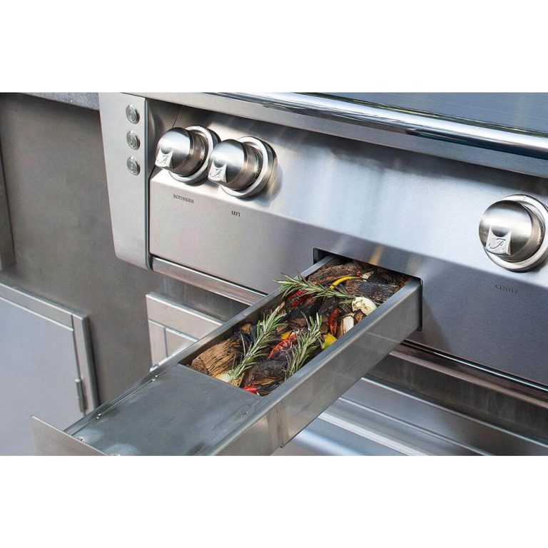 Alfresco ALXE 56-Inch Propane Gas Deluxe Grill With Sear Zone, Rotisserie, And Side Burner